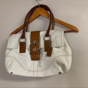 50% OFF Coach cream hobo flip shoulder bag
